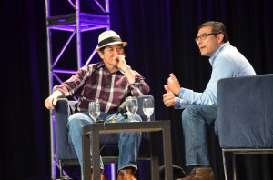 @GuyKawasaki and Google's Vic Gundotra at SXSW 2012 (Wayne Kurtzman photo)