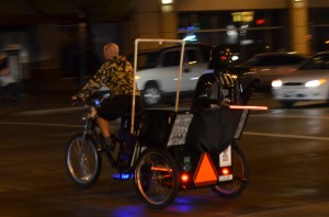 Pedicab at SXSW in Austin