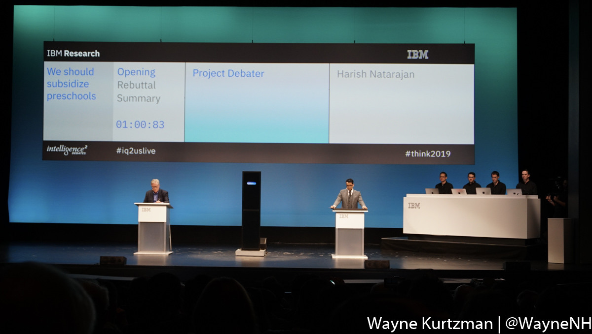 IBM Think 2019, Project Debater.